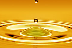 Drop of water gold Stock Photo