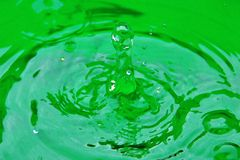 DROP OF WATER 2. Mystery of nature: the drop of water. Close-up photograph of a drop of rain water in all its forms Stock Photography