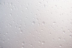 Drop of water from rain on glass Royalty Free Stock Photos