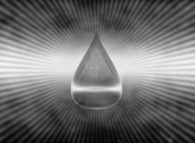 A drop of water symbol H2O dirty water. 3D illustration. Water resources, ecology, environmental pollution stock illustration