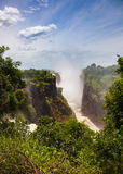 The drop of water on the Victoria Falls on the African river Zam Stock Images