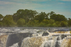The drop of water on the Victoria Falls on the African river Zam Stock Photos