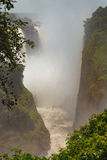 The drop of water on the Victoria Falls on the African river Zam Stock Photography