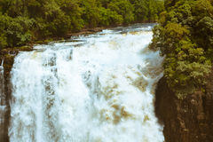 The drop of water on the Victoria Falls on the African river Zam Royalty Free Stock Photo
