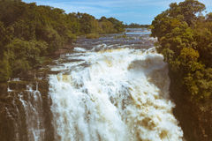 The drop of water on the Victoria Falls on the African river Zam Royalty Free Stock Photography