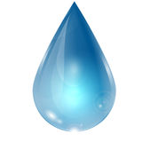 Drop of water. On a white background Stock Illustration