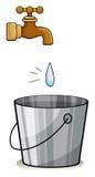 A drop of water Stock Photos
