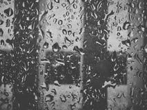 Drop on window stock image