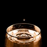 Drop of wine. Wine is dropping into the glass Royalty Free Stock Photography