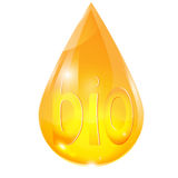 Drop of yellow Royalty Free Stock Images