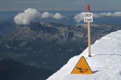 Drop zone. In the mountains Stock Photography