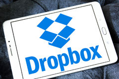 Dropbox λογότυπο Στοκ εικόνα με δικαίωμα ελεύθερης χρήσης