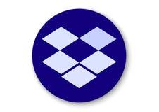 Dropbox apk icon. Vector design of mobile app brand with trademark logo royalty free illustration