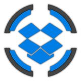 Dropbox button. Dropbox color button for site or IT projects. Transparent PNG. Social media buttons stock illustration