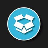 Dropbox classic emblem icon. Vector illustration design stock illustration