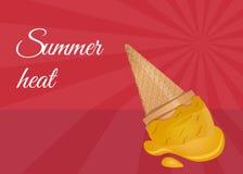 Droped ice cream vector illustration Royalty Free Stock Photo