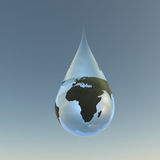 Droplet Africa Stock Image