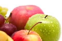 Droplet on apple fruit Stock Photography