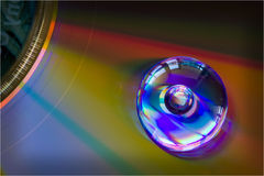 Droplet on CD royalty free stock image