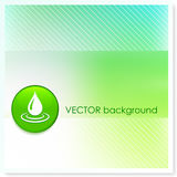 Droplet Icon Internet Button on Vector Background Stock Image