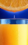 Droplet  of orange juice. Royalty Free Stock Images