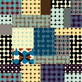 Droplet pattern in patchwork style Stock Images