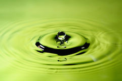 Droplet of pure water Royalty Free Stock Images