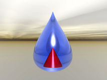 Droplet with pyramid Stock Images