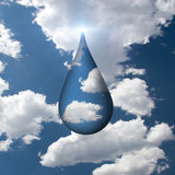 Droplet of Sky Stock Images