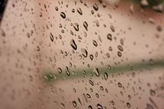 Droplet water. On glass window Stock Photography