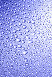 Droplets. Water droplets on the freezer surface Royalty Free Stock Image