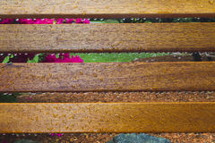 Droplets on Bench Stock Photo