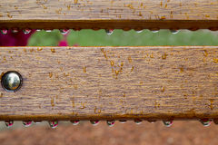 Droplets on Bench Stock Image