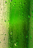 Droplets on the bottle of beer Stock Image
