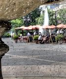 Droplets and Cafe Royalty Free Stock Images