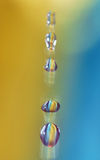 Droplets caught Stock Photo