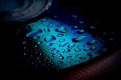 Droplets on the cd Royalty Free Stock Images