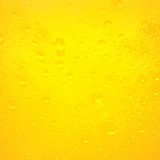 Droplets on freshly poured beer Royalty Free Stock Image