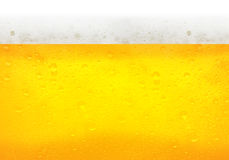 Droplets on freshly poured beer Stock Images