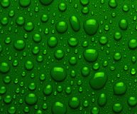 Droplets of green liquid Royalty Free Stock Images