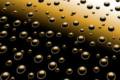 Droplets on metal surface. See more similar images in my portfolio Stock Photography