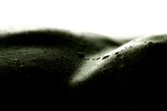 Droplets on skin royalty free stock photo