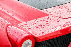 Droplets on a sport car Stock Photography