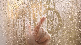 Droplets on the window stock footage