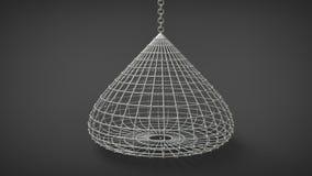 Droplike birdcage coop Royalty Free Stock Photo