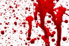 Droppar av blod Royaltyfri Bild