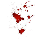 Droppar av blod Arkivfoto