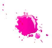Droppar av färgpulver Arkivfoto