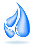 Droppar av vatten. Ekologisk symbol Royaltyfri Foto