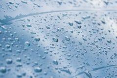 Droppar av vatten på fönsterexponeringsglas Arkivbilder